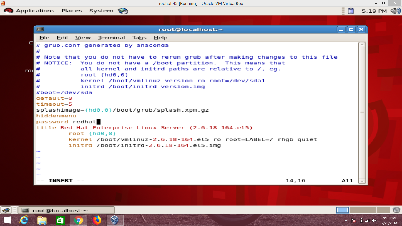How To Configure Password Grub Security In Redhat Enterprise
