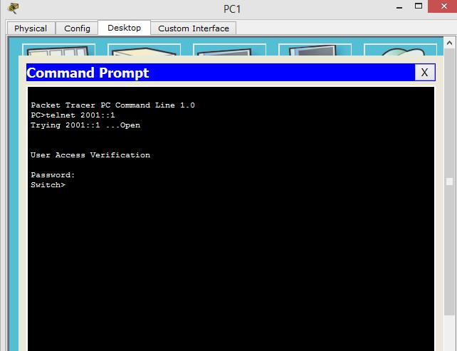 How To Configure Telnet On Cisco Switch Using IP Version 6